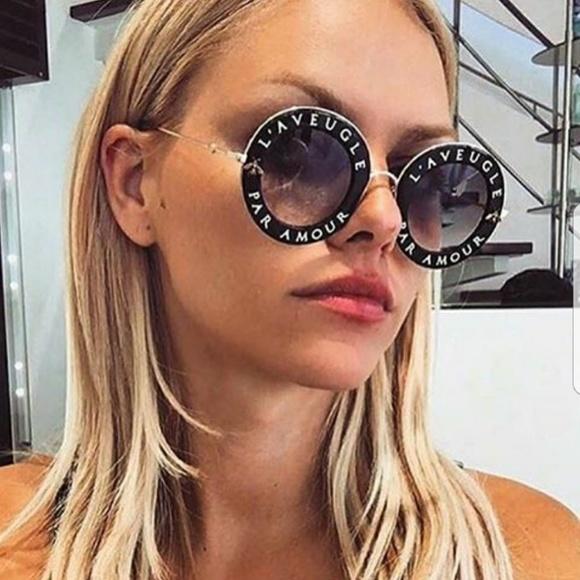 253a306310f Gucci Accessories - Gucci GG0113S Round L  Aveugle Amour Sunglasses